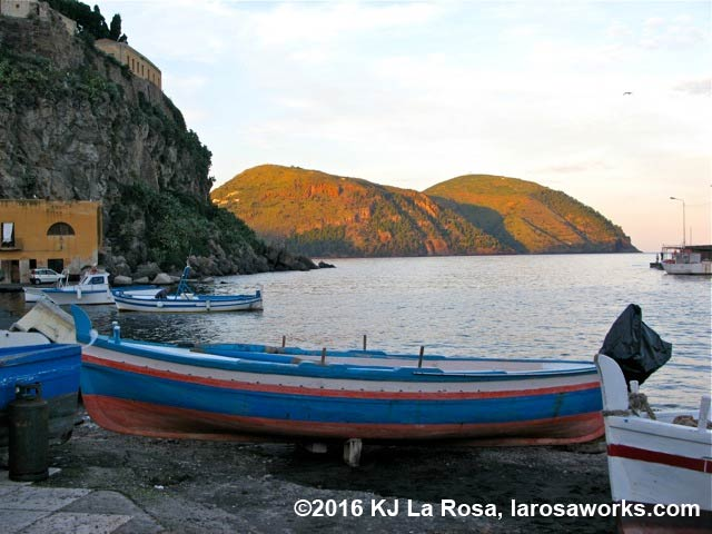 Approaching dusk on the island of Lipari