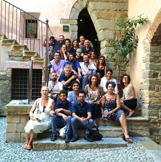 At Castelbuono, with Laura Barreca, Francesco Pantaleone, and other important curators and artists in the Sicilian art scene