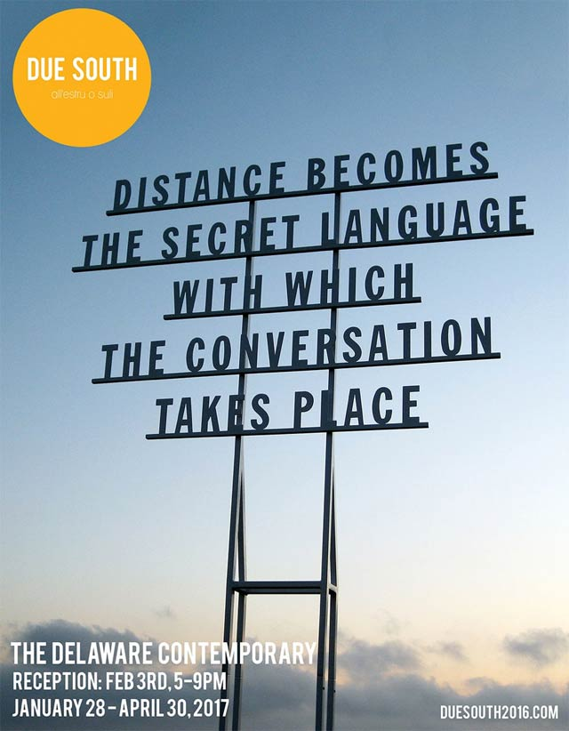 Alice Guareschi, Distance Becomes The Secret Language With Which The Conversation Takes Place, 2011, site specific installation on the Sicilian island of Pantelleria