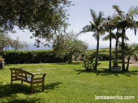 Another of the tranquil areas at the Villa.